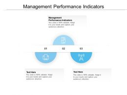 Management Performance Indicators Ppt Powerpoint Presentation Model Portfolio Cpb