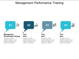 Management Performance Training Ppt Powerpoint Presentation Styles Outfit Cpb