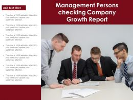 Management Persons Checking Company Growth Report