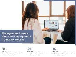 Management Persons Crosschecking Updated Company Website