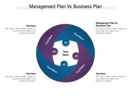 Management Plan Vs Business Plan Ppt Powerpoint Presentation Styles Inspiration Cpb