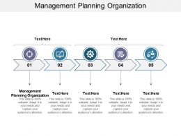 Management Planning Organization Ppt Powerpoint Presentation Show Graphics Design Cpb