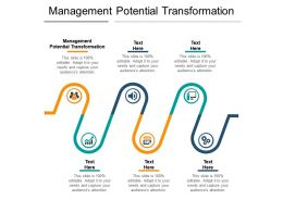 Management Potential Transformation Ppt Powerpoint Presentation Slides Icon Cpb