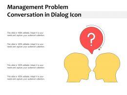 Management Problem Conversation In Dialog Icon