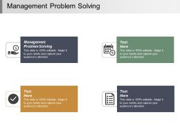 Management Problem Solving Ppt Powerpoint Presentation Infographic Template Inspiration Cpb