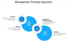 Management Process Approach Ppt Powerpoint Presentation Ideas Background Images Cpb