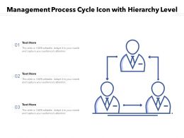 Management Process Cycle Icon With Hierarchy Level