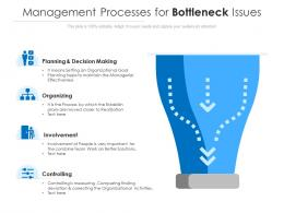 Management Processes For Bottleneck Issues