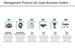 Management Product Life Cycle Business Outline Plan Market Segmentation Cpb