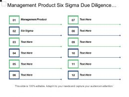 management_product_six_sigma_due_diligence_database_performance_cpb_Slide01