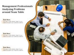 Management Professionals Analyzing Problems Around Team Table