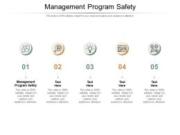 Management Program Safety Ppt Powerpoint Presentation Layouts Outfit Cpb