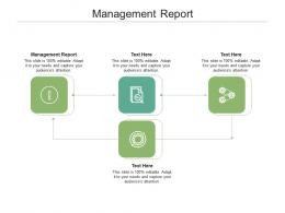 Management Report Ppt Powerpoint Presentation Infographics Slide Download Cpb
