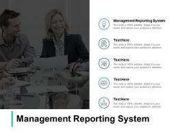 Management Reporting System Ppt Powerpoint Presentation Pictures Cpb