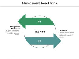 Management Resolutions Ppt Powerpoint Presentation Layouts Infographics Cpb