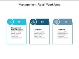 Management Retail Workforce Ppt Powerpoint Presentation Summary Slides Cpb