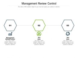 Management Review Control Ppt Powerpoint Presentation Styles Designs Cpb