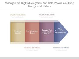 Management Rights Delegation And Sale Powerpoint Slide Background Picture