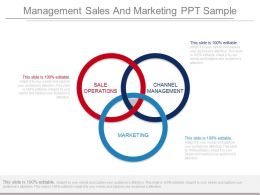 management sales and marketing ppt sample