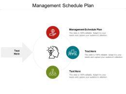 Management Schedule Plan Ppt Powerpoint Presentation Shapes Cpb