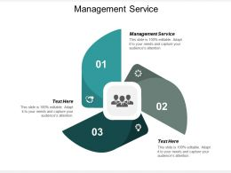 Management Service Ppt Powerpoint Presentation Outline Display Cpb