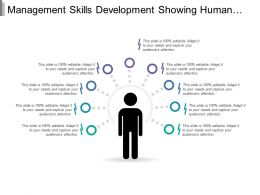 Management Skills Development Showing Human Silhouettes With Management Skills