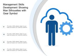 Management Skills Development Showing Man Silhouettes With Gear Symbol