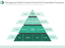 Management Skills Pyramid Powerpoint Presentation Examples