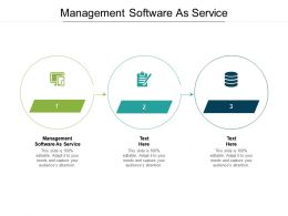 Management Software As Service Ppt Powerpoint Presentation Infographics Graphics Download Cpb