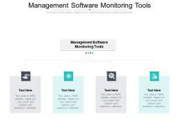 Management Software Monitoring Tools Ppt Presentation Slides Demonstration Cpb