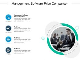 Management Software Price Comparison Ppt Powerpoint Presentation Infographic Template Icon Cpb