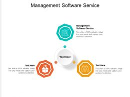 Management Software Service Ppt Powerpoint Presentation Show Guidelines Cpb