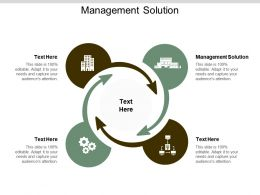 Management Solution Ppt Powerpoint Presentation Gallery Display Cpb