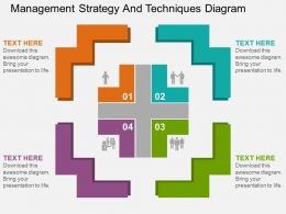 Management Strategy And Techniques Diagram Flat Powerpoint Design