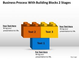 Management Strategy Consulting Blocks 2 Stages Powerpoint Templates PPT Backgrounds For Slides 0530