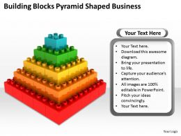 Management Strategy Consulting Building Blocks Pyramid Shaped Business Powerpoint Templates 0527