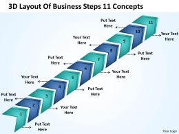 Management Strategy Consulting Steps 11 Concepts Powerpoint Templates PPT Backgrounds For Slides 0522
