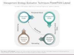 Management Strategy Evaluation Techniques Powerpoint Layout