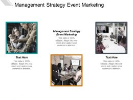 Management Strategy Event Marketing Ppt Powerpoint Presentation Inspiration Influencers Cpb