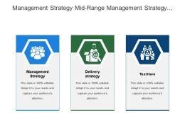 Management Strategy Mid Range Management Strategy Delivery Strategy