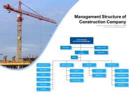 Management Structure Of Construction Company