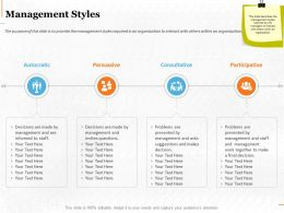 Management Styles Ppt Powerpoint Presentation Styles Diagrams