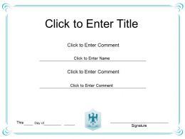 Management Success diploma Certificate Template of Honor completion PowerPoint for adults