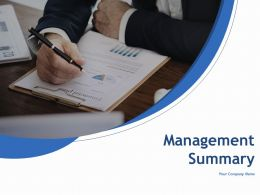 Management Summary Powerpoint Presentation Slides