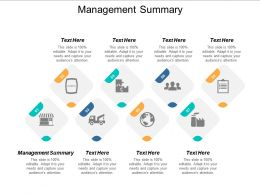 Management Summary Ppt Powerpoint Presentation Icon Guide Cpb