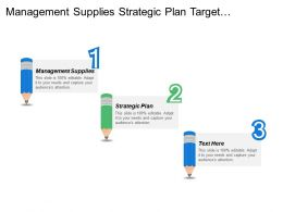 Management Supplies Strategic Plan Target Customer Snapshot Business Requirements