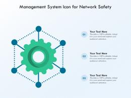 Management System Icon For Network Safety