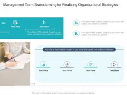 Management Team Brainstorming For Finalizing Organizational Strategies Infographic Template