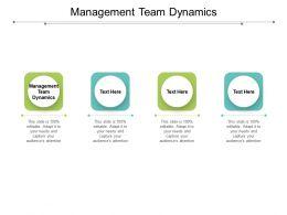 Management Team Dynamics Ppt Powerpoint Presentation Layouts Deck Cpb