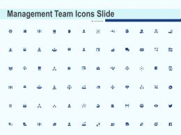 Management Team Icons Slide Ppt Powerpoint Presentation Outline Shapes